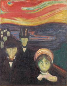 Anxiety (1894) by Edvard Munch