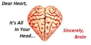 brain and heart cARTOON