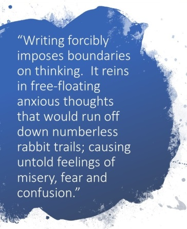 writing forcibly imposes boundaries on thinking